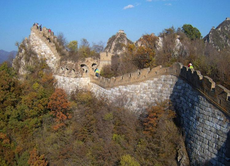 Jiankou Great Wall is Located 10km West of Mutianyu Great Wall, Beijing