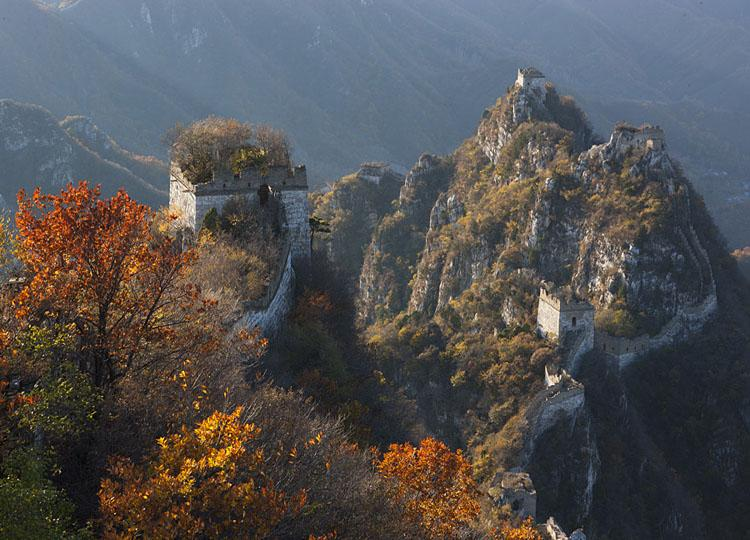 Scenery of Jiankou Great Wall in Autumn