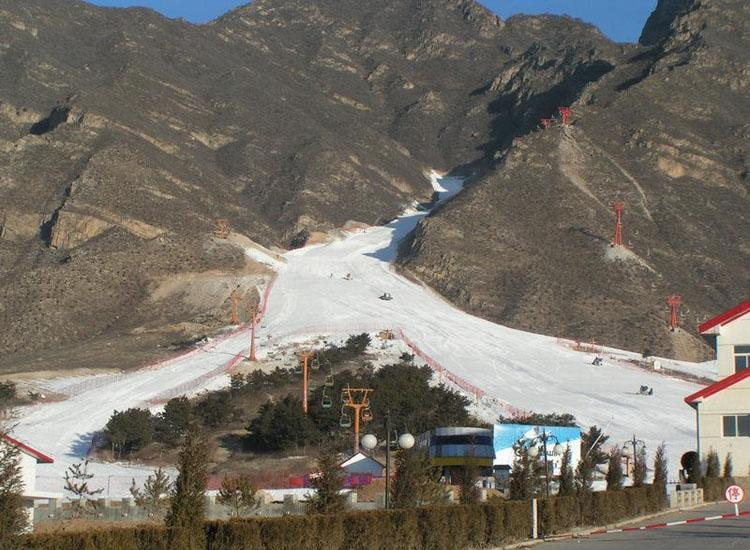 Shijinglong Ski Resort is Located to the West of Longqing Gorge, Beijing