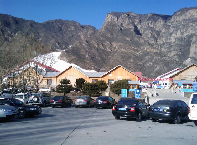 Parking Lot of Shijinglong Ski Resort in Beijing
