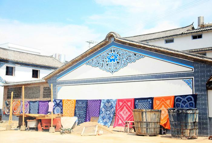 The village is known as the home town of Bai people's tie dyeing.