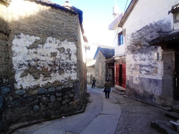 A lane of Zhoucheng Village, Dali