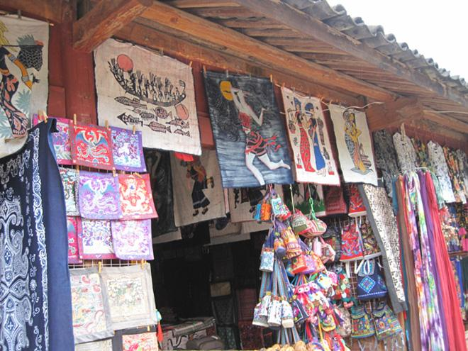 Small shop in Baisha sells distinctive ethnic arts and crafts.