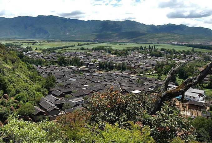 A bird view of Shuhe Old Town