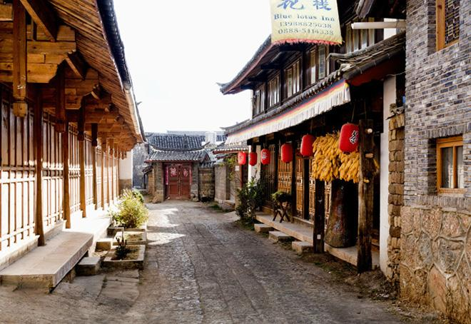 The lane of Shuhe Ancient Town