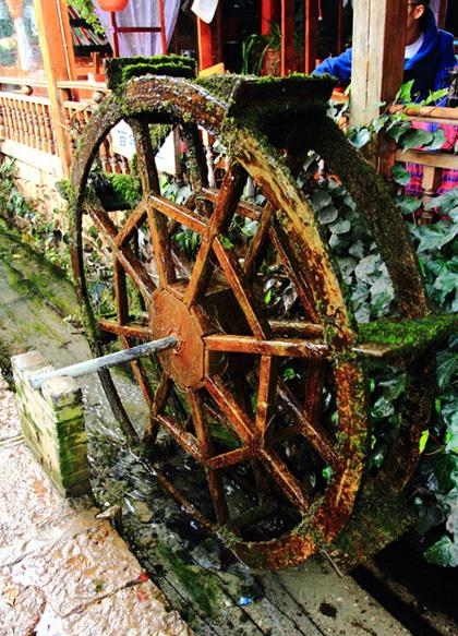 The waterwheel in Shuhe, Lijiang