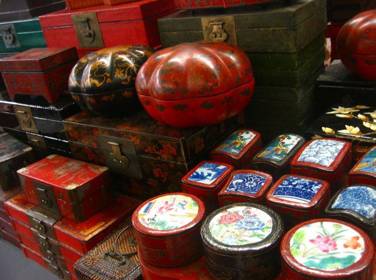 Traditional Furniture Sold at Panjiayuan Market in Beijing