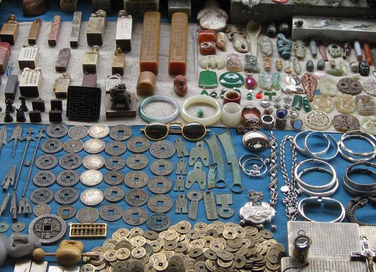 Coins and Other Antiques at Panjiayuan Market in Beijing