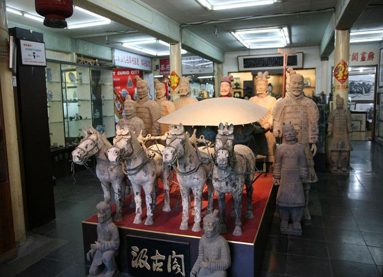 Imitations of Terracotta Warriors and Horses Sold at Liulichang Cultural Street,Beijing