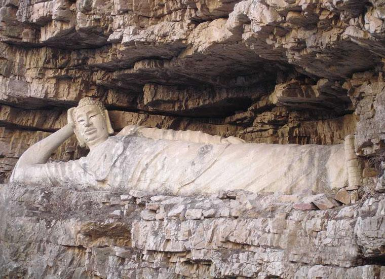 Sleeping Buddha in Jingdong Grand Canyon Scenic Area, Beijing