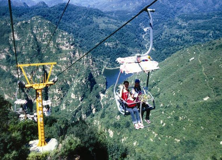 Visit Jingtai Mountain by Taking Ziplining in Jingdong Grand Canyon Scenic Area, Beijing