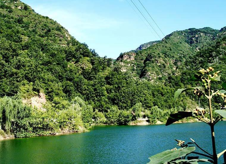 Longmen Lake in Jingdong Grand Canyon Scenic Area, Beijing