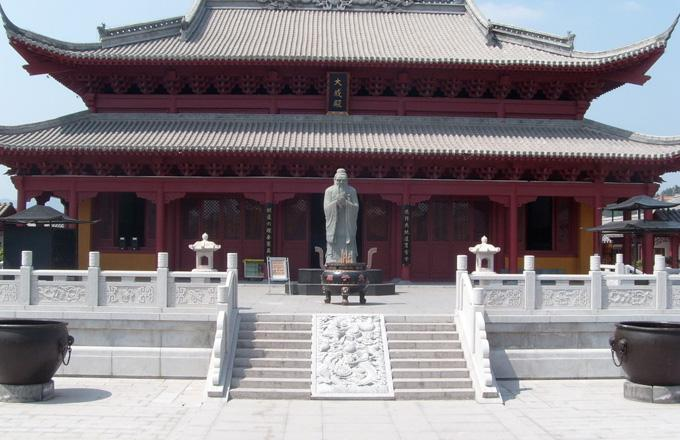 The Dacheng Hall of Confucius Temple of Nanjing
