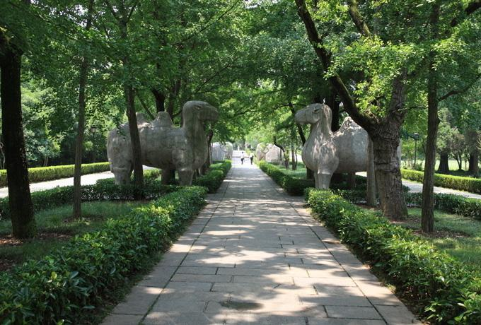 The road of stone sculptures