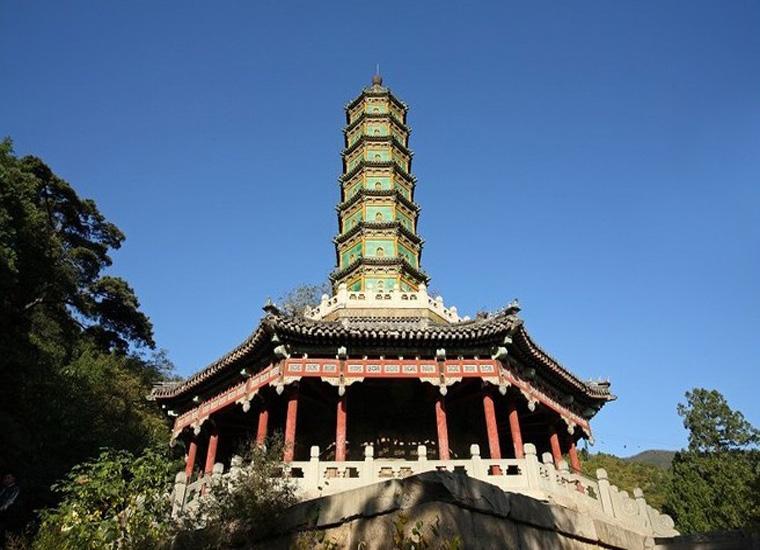 Glazed Pagoda in Xiangshan Park, Beijing