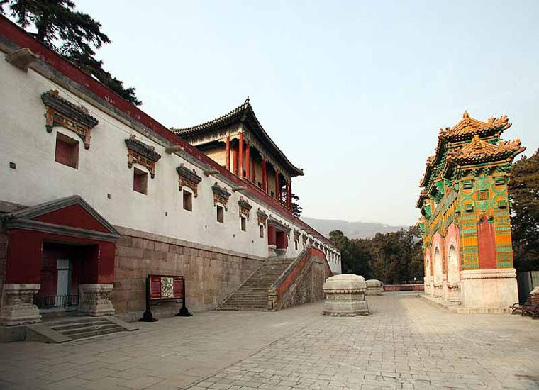 Zhao Monastery and Glazed Archway in Xiangshan Park, Beijing