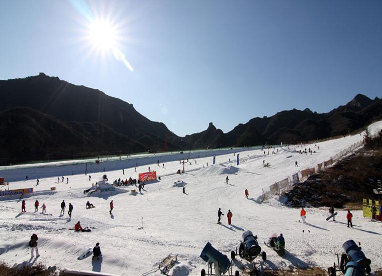 Beijing Huaibei International Ski Resort in the Sun