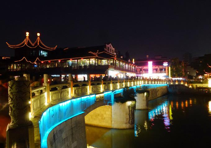 A beautiful nighview of Qinhuai River