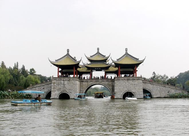 The Five-Pavilion-Bridge on Slender West Lake