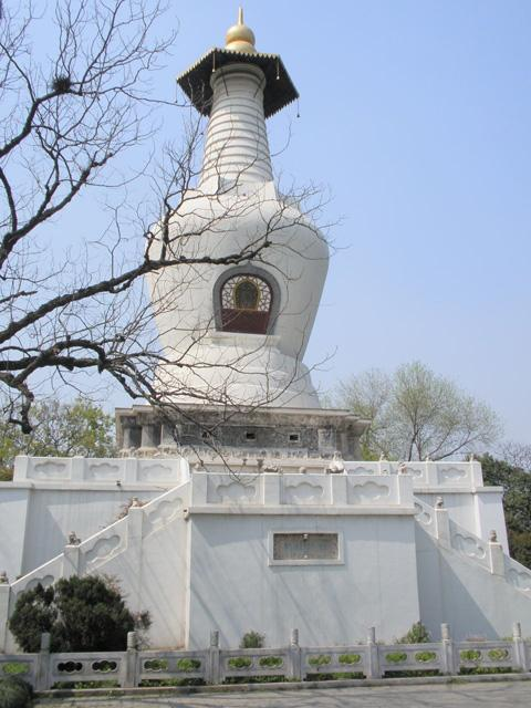 The White Stupa on the bank