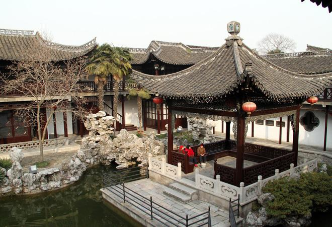 A view inside He Garden of Yangzhou