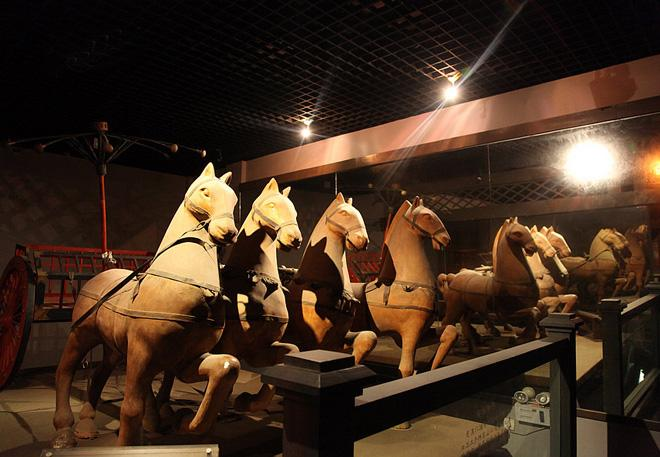 The horse carts in the museum