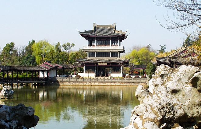 The pavilion building of Li Garden