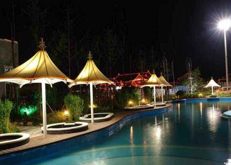 Chunhuiyuan Hot Spring Resort at Night