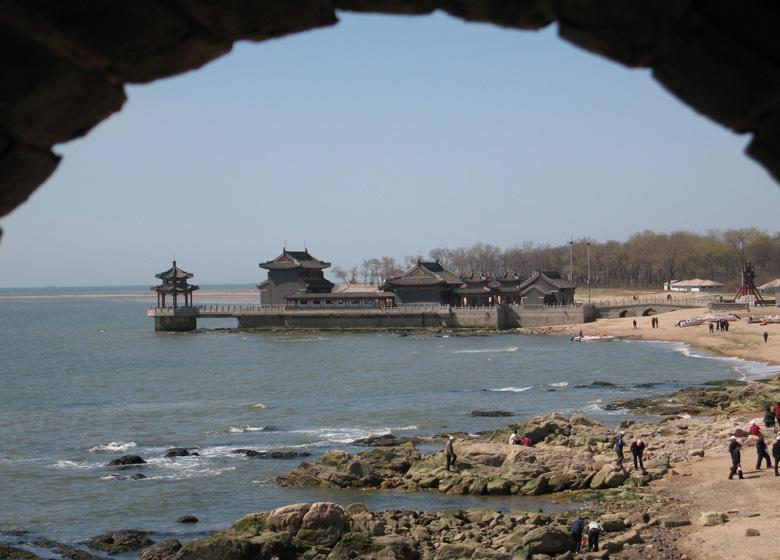 Old Dragon Head Scenic Spot is Where the Great Wall Stretching into China's Bohai Sea