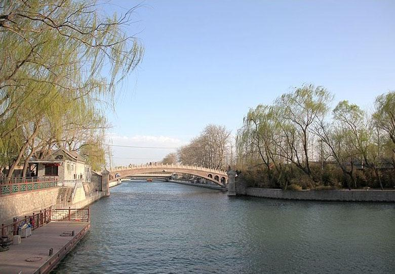 Willows along Waterway of Empress Dowager Cixi in Beijing
