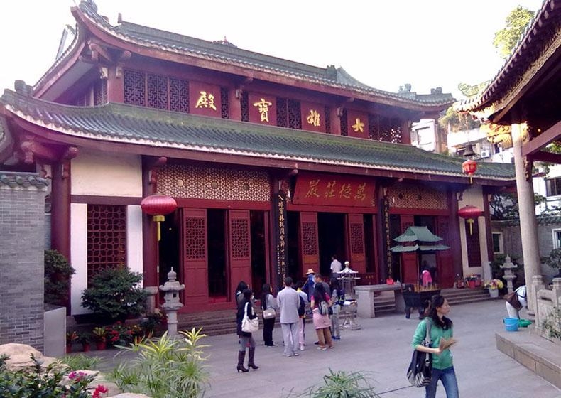 Daxiong Baodian is the Main Hall of Temple of Six Banyan Trees Scenic Area, Guangzhou