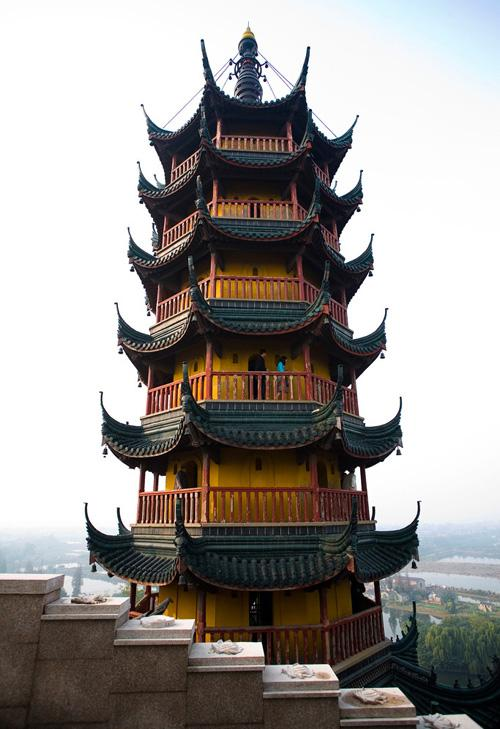 The Cishou Pagoda in Jinshan Temple, Zhenjiang