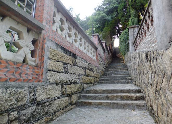 The path on the ialand of Gulangyu