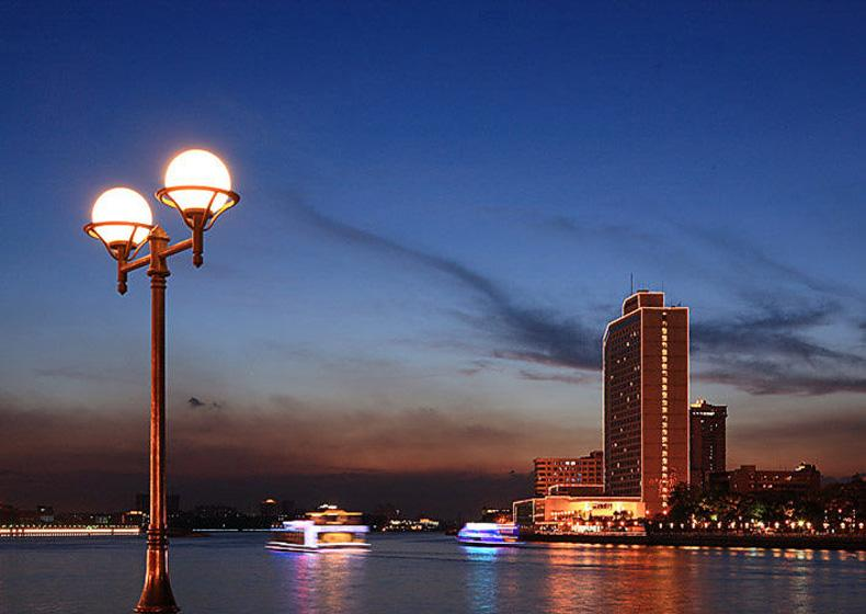 White Swan Pool at Moonlit Night is One of the Eight Great Sceneries of Guangzhou