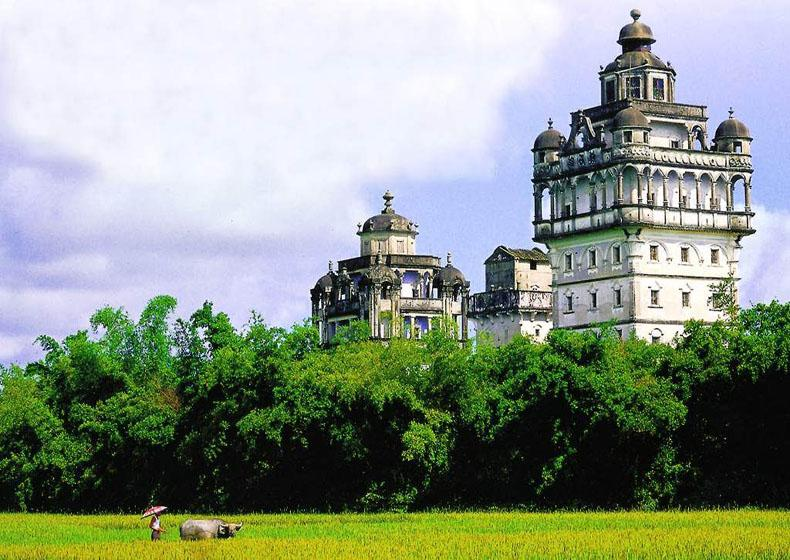 Stone Watchtowers in Kaiping of Guangdong Province, China