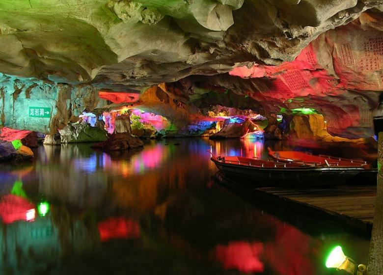 Scenery of Caves in Zhaoqing Seven Stars Cave Scenic Park, China