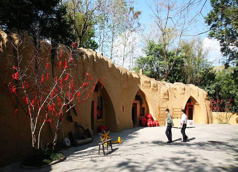 Replica of the Northern Shaanxi People's Cave-houses in China Folk Culture Village, Shenzhen