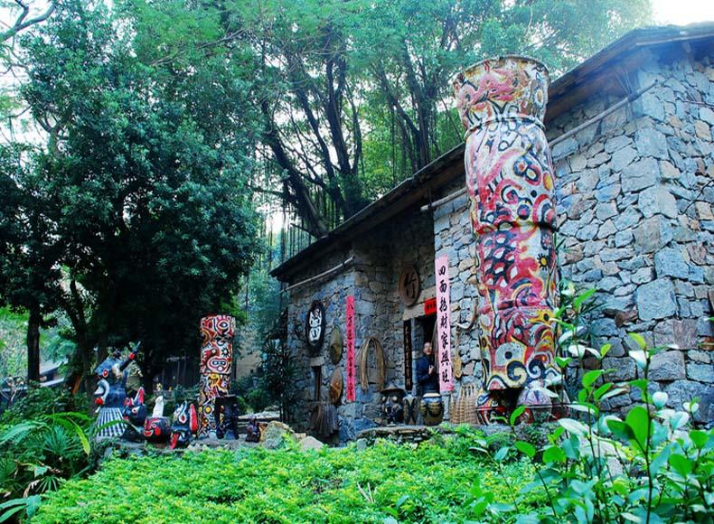 A Replica of Dwelling House of the Buyi Nationality in China Folk Culture Village, Shenzhen