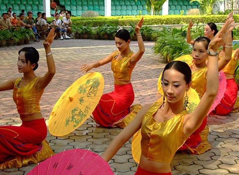 Dances Performed by the Dai People in China Folk Culture Village, Shenzhen