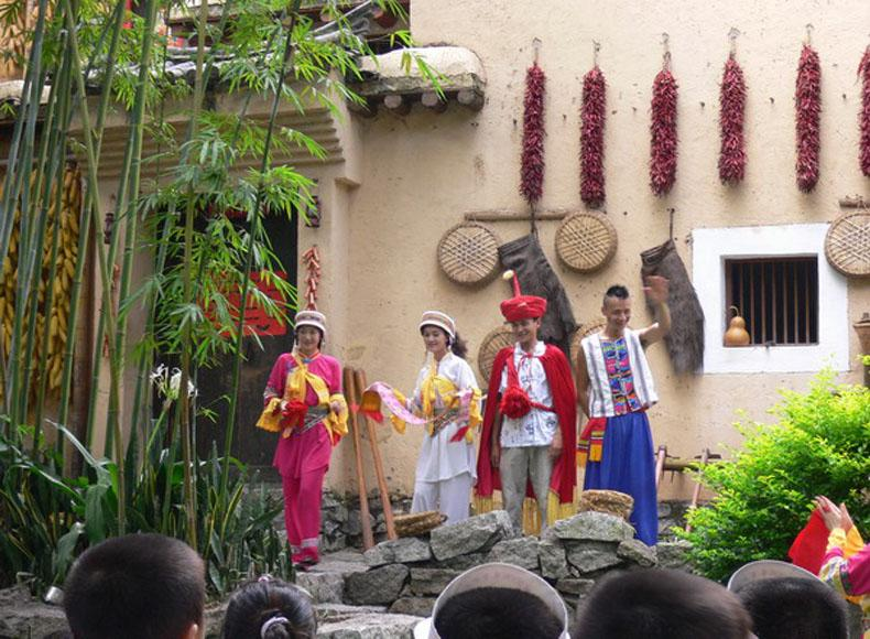 The Yi People Perform Finding Mr. Right in China Folk Culture Village, Shenzhen