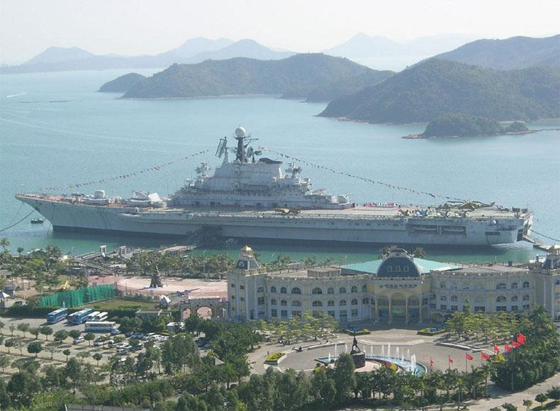 Shenzhen Minsk Aircraft Carrier World is the first military themed park with aircraft carrier as the main part