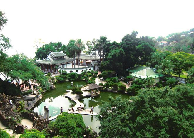 An overlook of the garden, Xiamen