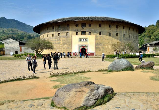 The most famous round earthen building in the village