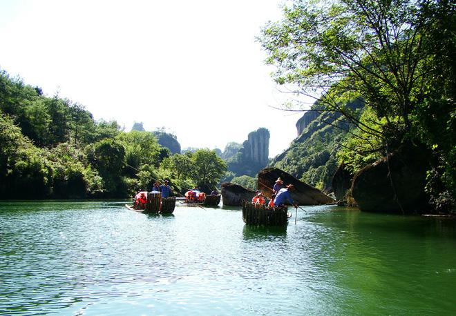 "Wuyishan is hailed as ""the best scenery in Southeast China""."
