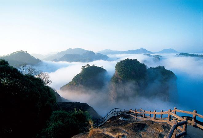 The amazing view of Mountain Wuyi