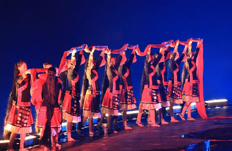 The on-water show Impression Sanjie Liu displays the local cultures in Guilin