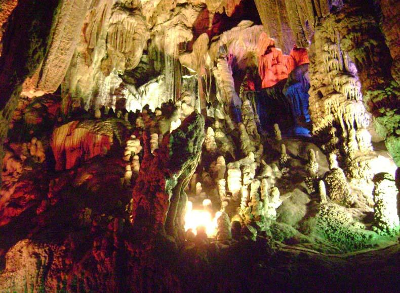 The spot of Budda Sakyamuni Discussing Buddhist Sutras in the Silver Cave Scenic Area, China
