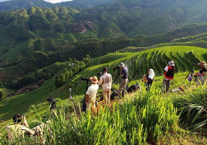 Longsheng Rice Terraces are good places for photographing in China