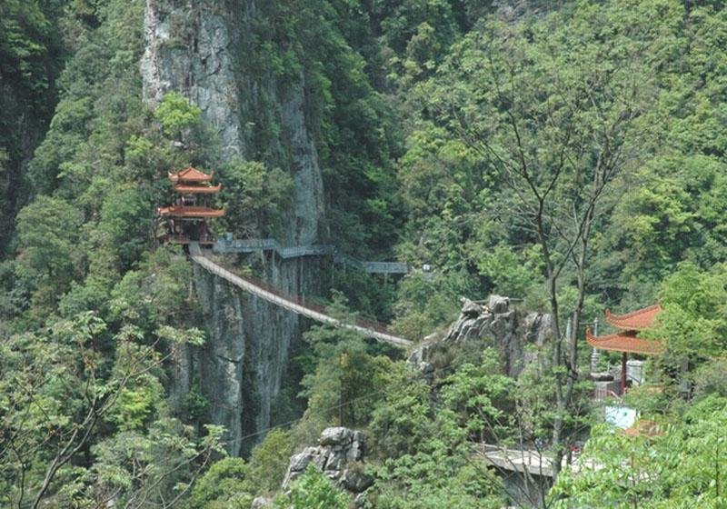 Longsheng Hot Springs National Forest Park is some 129km from Guilin City