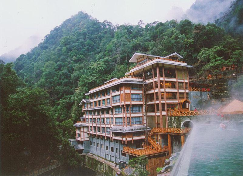 Beautiful scenery of Longsheng Hot Spring Holiday Resort in Longsheng County, Guilin